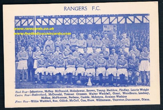1949 Rangers League Cup team Eve Cit